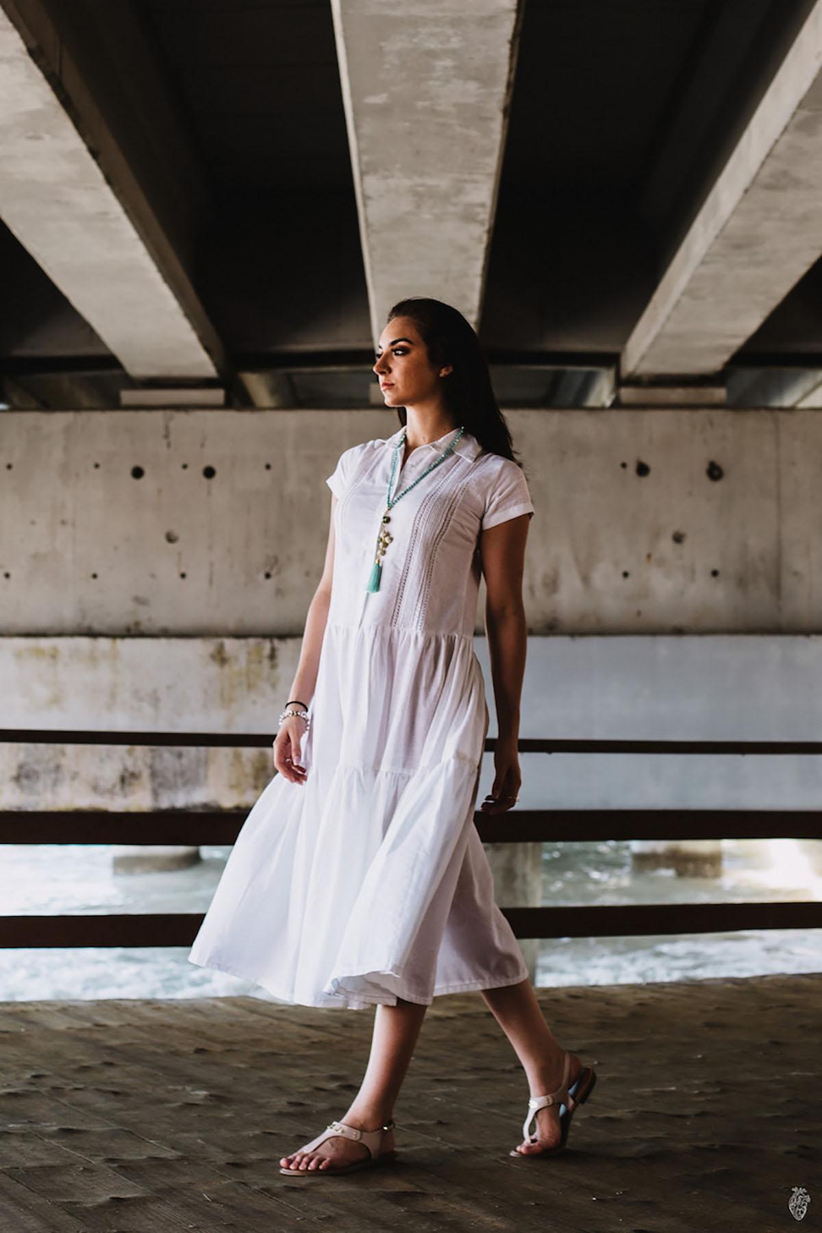 Vestido Guayabera Blanco